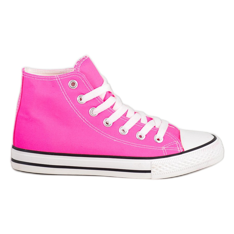SHELOVET High Sneakers pink