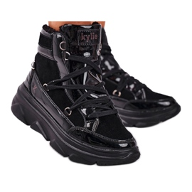 Kylie Crazy Women's Sneakers Black Snow boots Missy