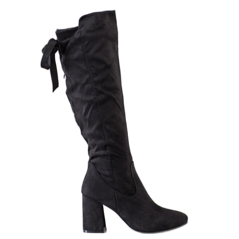 Flyfor Stylish Boots On The Post black