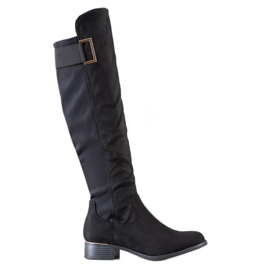Evento Boots With A Decorative Belt black