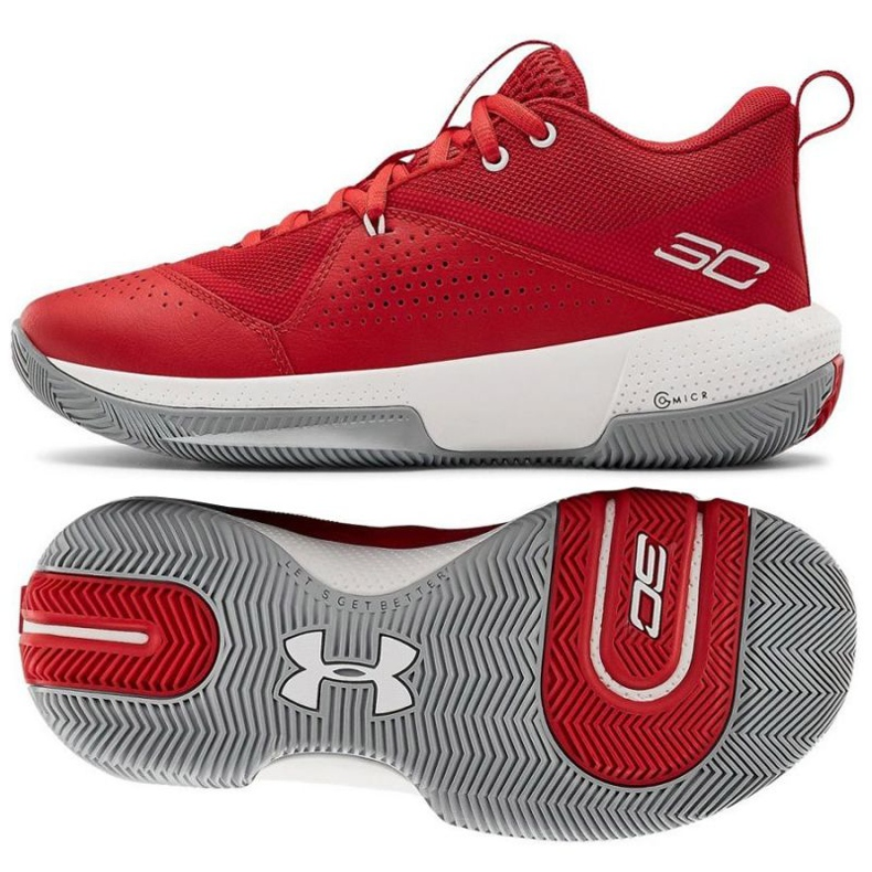 Under Armour Under Armor Gs Sc 3Zero Iv Boys Jr 3023918-600 basketball shoes multicolored red