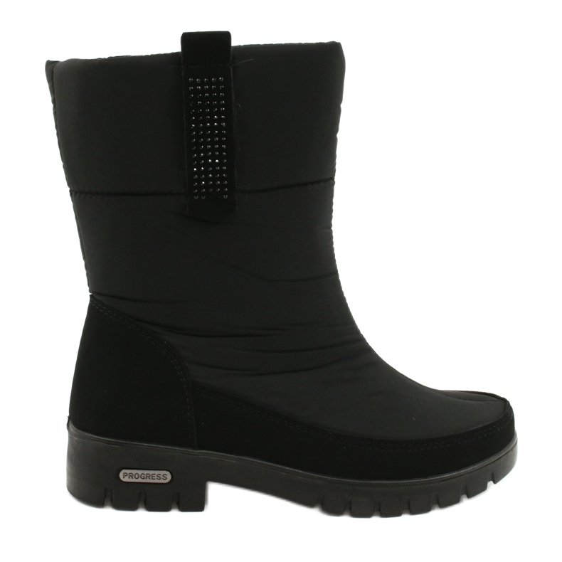 Light Fur Snow Boots Progress 20-09 black