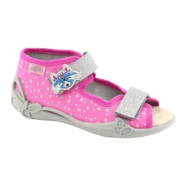 Befado yellow children's shoes 342P016 pink silver grey