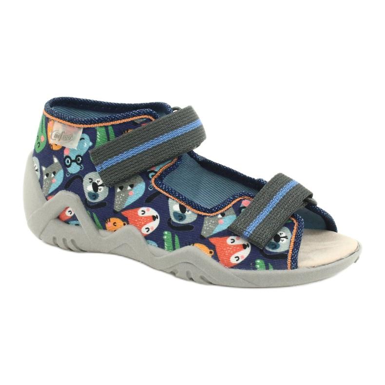 Befado yellow children's shoes 350P013 blue grey multicolored
