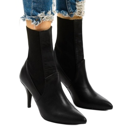 Black high heels with a Daywillow sock