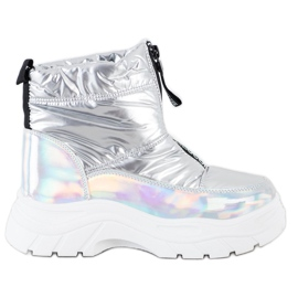 SHELOVET Snow Boots On The Slider silver