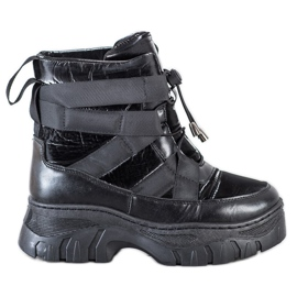 SHELOVET Black Snow Boots With Warming