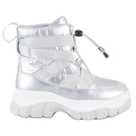 SHELOVET Warming Silver Snow Boots
