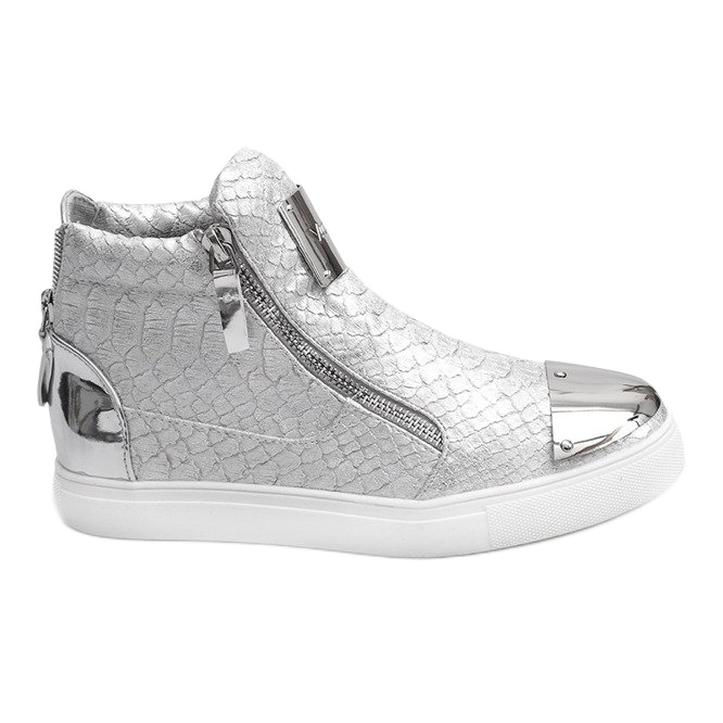 High-top Sneakers Q55 Silver