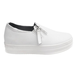 Creepersy Wedge Sneakers 888 White