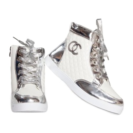 High-top Sneakers R17 White silver
