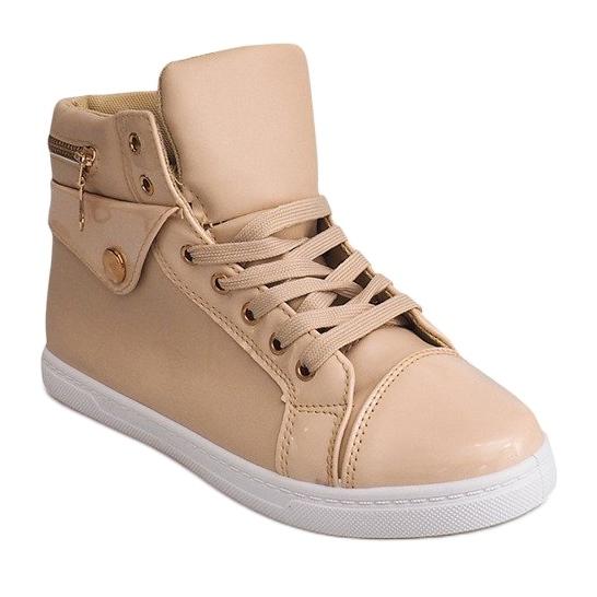 High-top Sneakers R-216 Beige