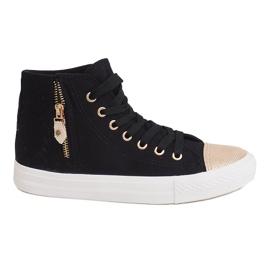 High Slider Hit Sneakers Sneakers H-11 Black white