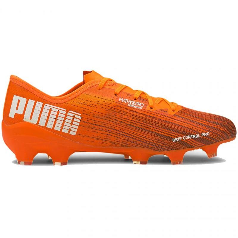 Football boots Puma Ultra 2.1 Fg Ag M 106080 01 orange multicolored