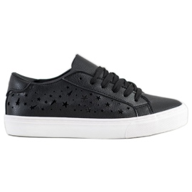 J. Star Low Sneakers With Stars black