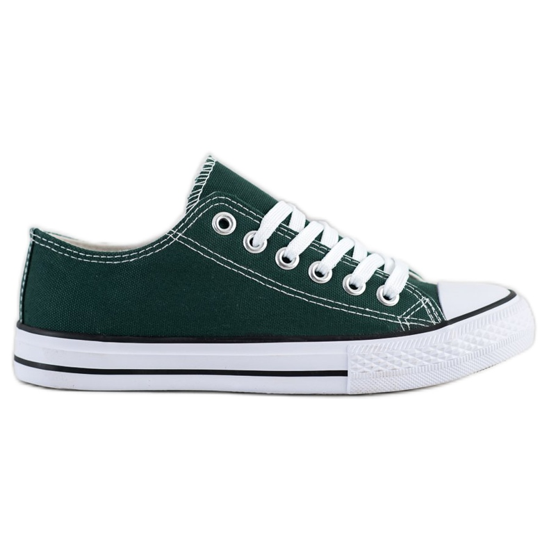 SDS Textile Sneakers white green