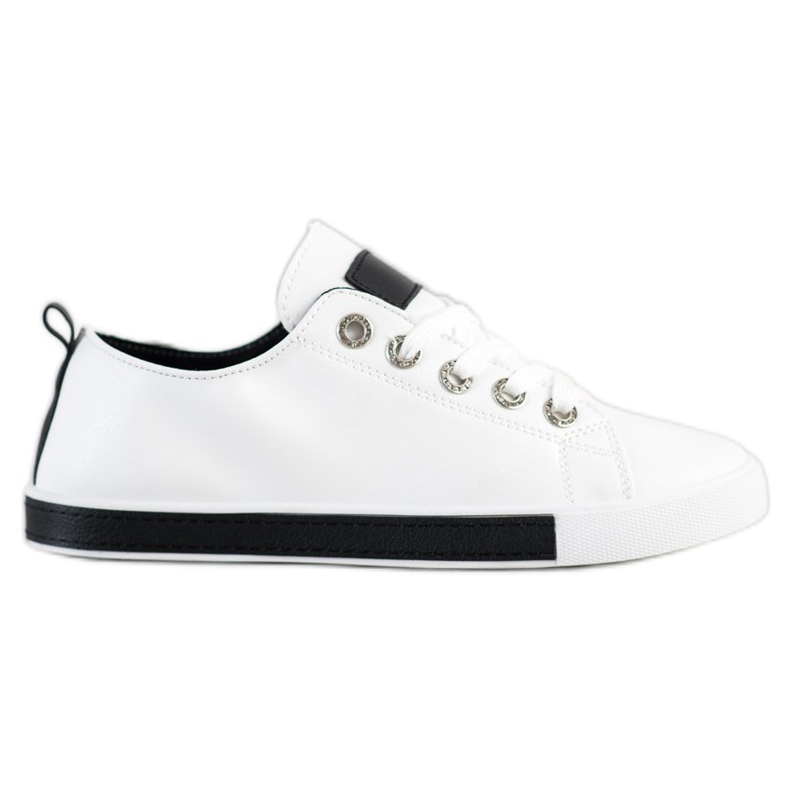 SHELOVET Sneakers With Black Inserts white
