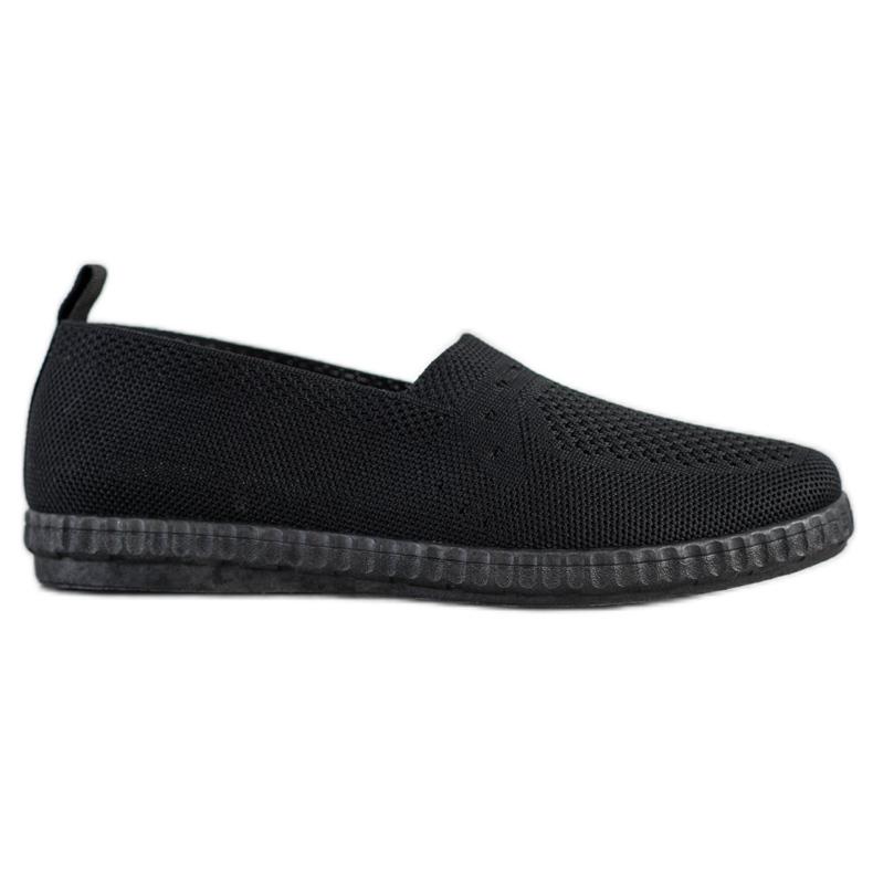 Via Giulia  Openwork Slip On Sneakers black