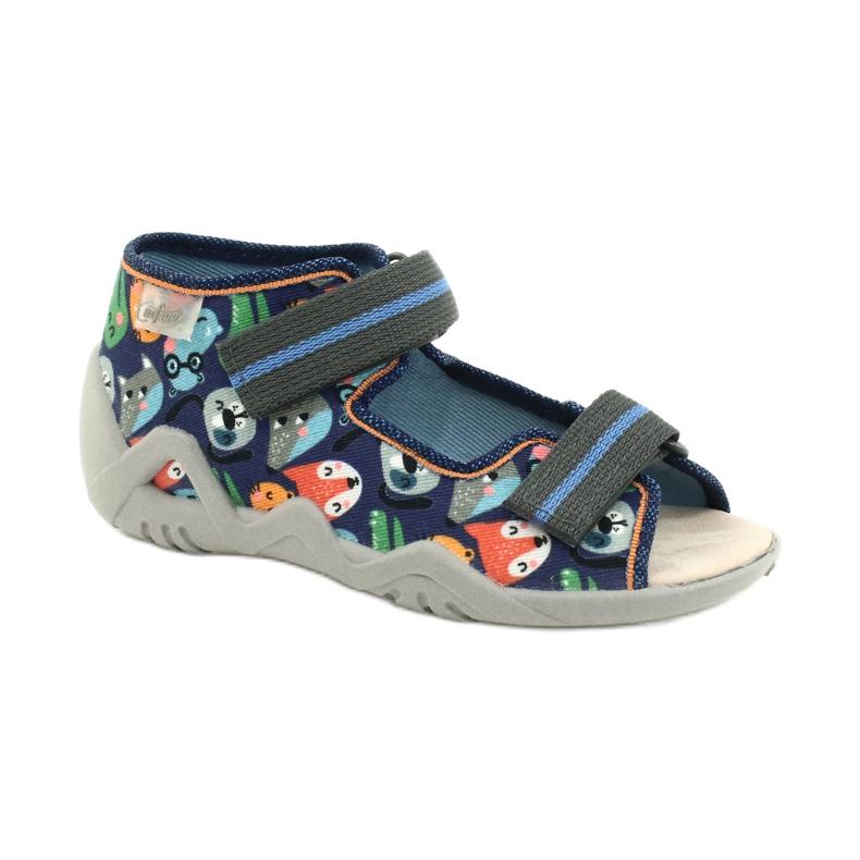 Befado yellow children's shoes 350P013 navy blue orange grey