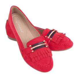 Red Women's loafers 88-381 Red