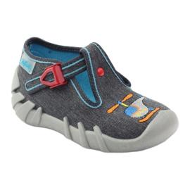 Befado children's slippers 110p307 red grey orange blue 1