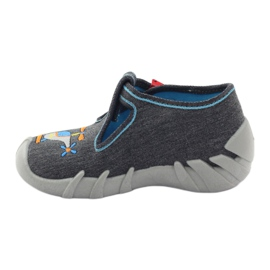 Befado children's slippers 110p307 red grey orange blue 2