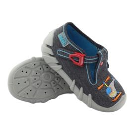 Befado children's slippers 110p307 red grey orange blue 3