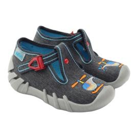 Befado children's slippers 110p307 red grey orange blue 4