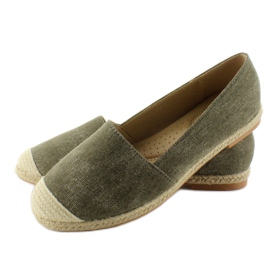 Espadrilles with linen noses JH23P Green 3