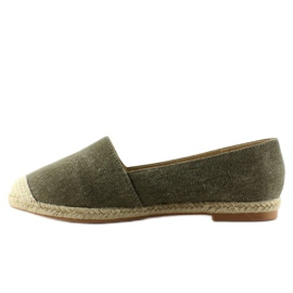 Espadrilles with linen noses JH23P Green 1