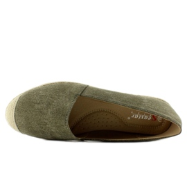 Espadrilles with linen noses JH23P Green 2
