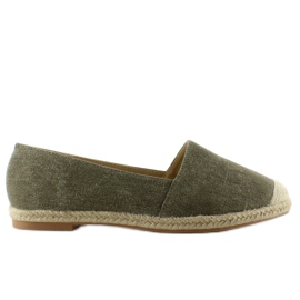 Espadrilles with linen noses JH23P Green 5