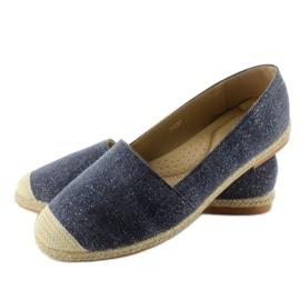 Espadrilles with linen toes JH23P D. Blue 1