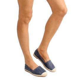 Espadrilles with linen toes JH23P D. Blue 6