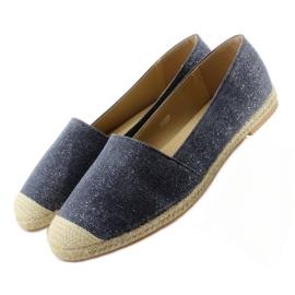Espadrilles with linen toes JH23P D. Blue 2