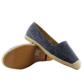 Espadrilles with linen toes JH23P D. Blue 3