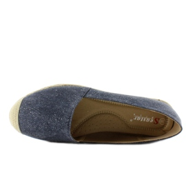 Espadrilles with linen toes JH23P D. Blue 5