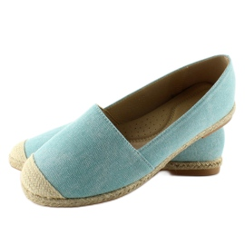 Espadrilles with linen toes JH23P L. Blue 3