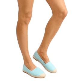 Espadrilles with linen toes JH23P L. Blue 4