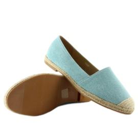 Espadrilles with linen toes JH23P L. Blue 7