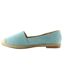 Espadrilles with linen toes JH23P L. Blue 1