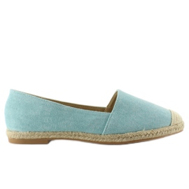 Espadrilles with linen toes JH23P L. Blue 5