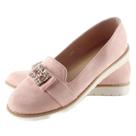 Pastel suede loafers T245 Pink 3