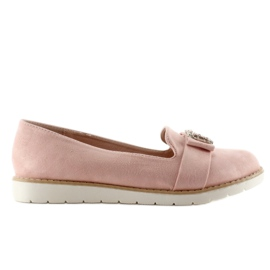 Pastel suede loafers T245 Pink 4