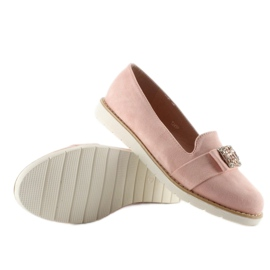 Pastel suede loafers T245 Pink 2