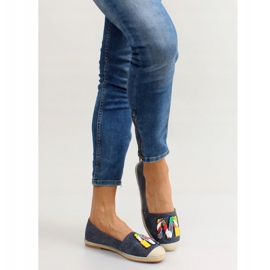 Espadrilles with colorful beads H8-58 D Blue 4