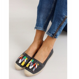 Espadrilles with colorful H8-58 Black beads 6