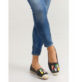 Espadrilles with colorful H8-58 Black beads 5
