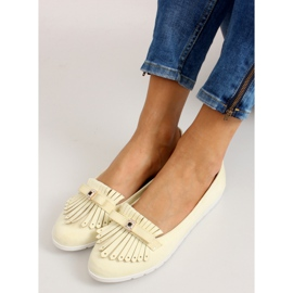 Pastel loafers with yellow fringes 2