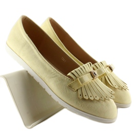 Pastel loafers with yellow fringes 3